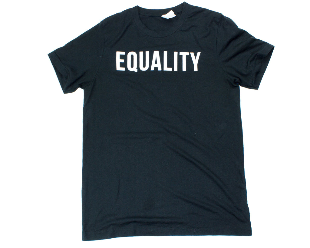 Short sleeve t-shirt-Triblend-Black-Bold Equality