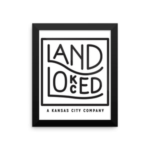 Landlocked Logo Framed Poster