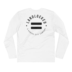 Long Sleeve Fitted Crew-White-Minimal-Equality