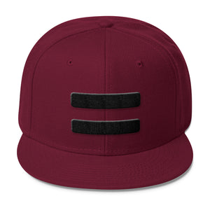 Equal Sign Minimalist Snapback Hat