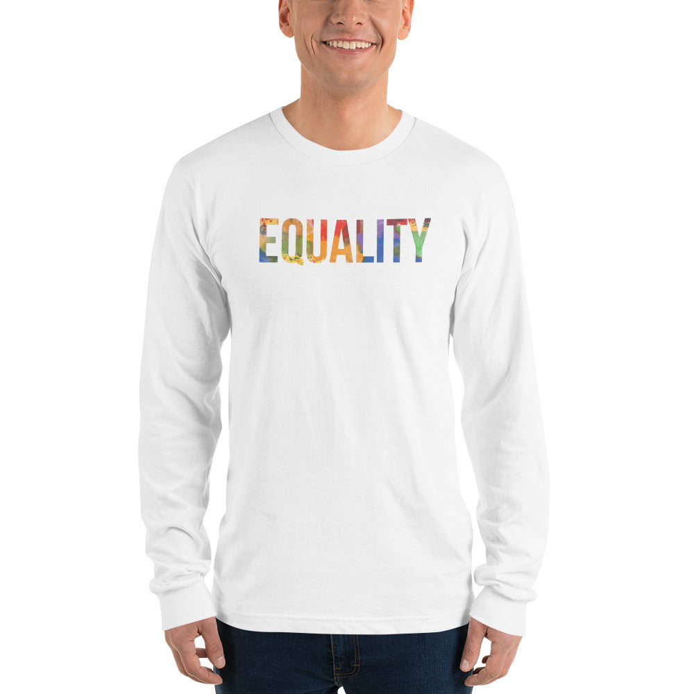 Inverse Paint Splatter Equality Long Sleeve T-Shirt (unisex)