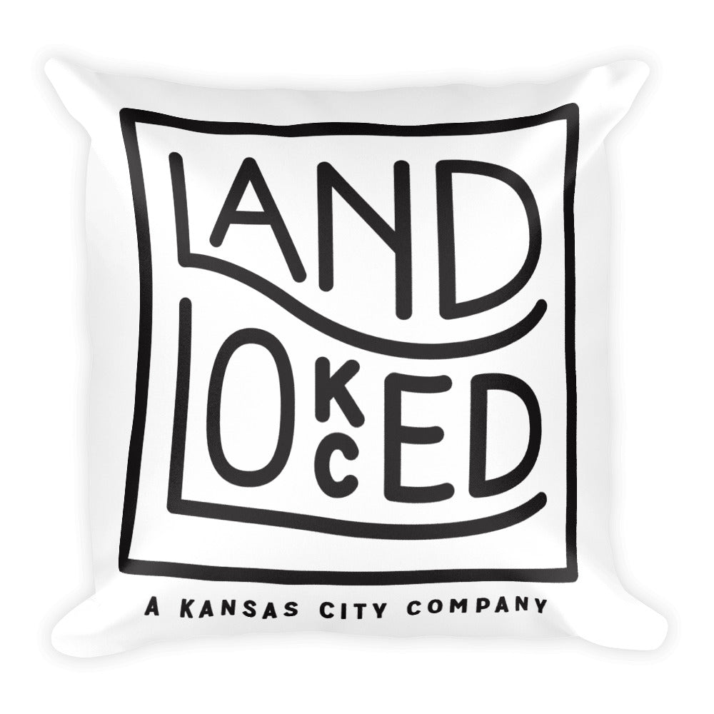 Landlocked Logo 18x18 Square Pillow