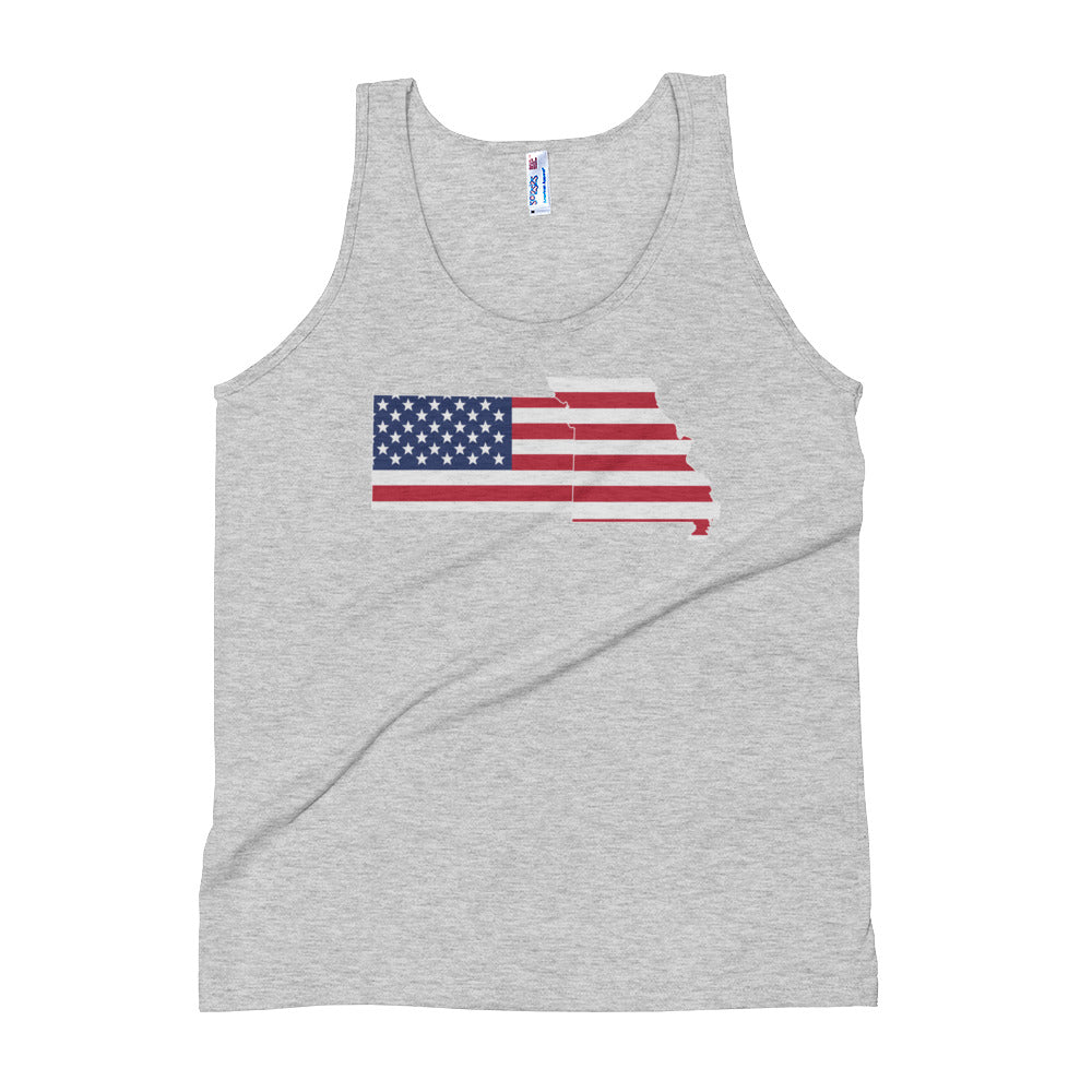 Flag Tank Top - MO/KS - (Grey)