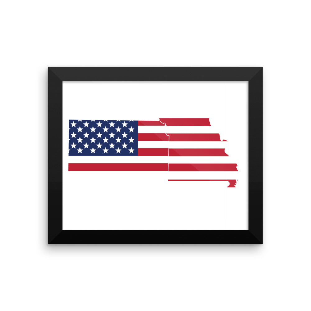 MO/KS Flag Landlocked Framed poster