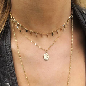 Shimmering Coin Choker - Nikki Smith Designs