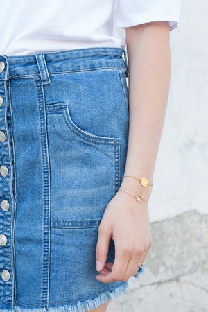 Golden Disc Slider Bracelet - Nikki Smith Designs