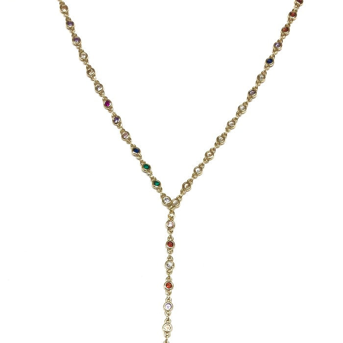 Annie Rainbow Lariat Necklace - Nikki Smith Designs