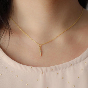 Audrey Lightning Bolt Necklace - Nikki Smith Designs