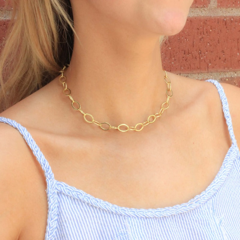 Eloise Gold Choker - Nikki Smith Designs