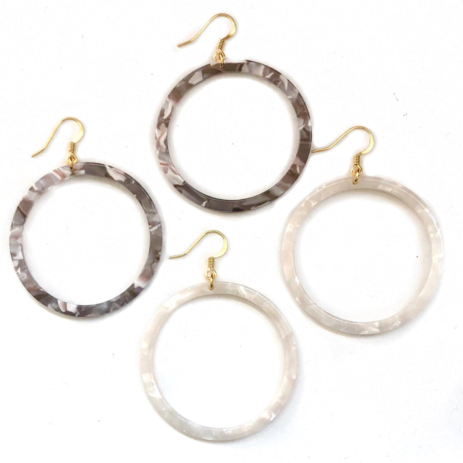 Charlie Tortoiseshell Hoops - Nikki Smith Designs
