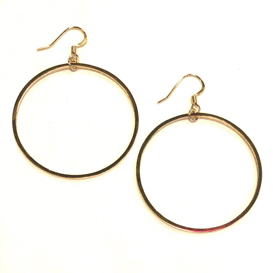 Classic Gold Hoops - Nikki Smith Designs