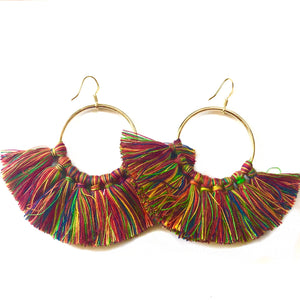 Multi Color Fan Tassels