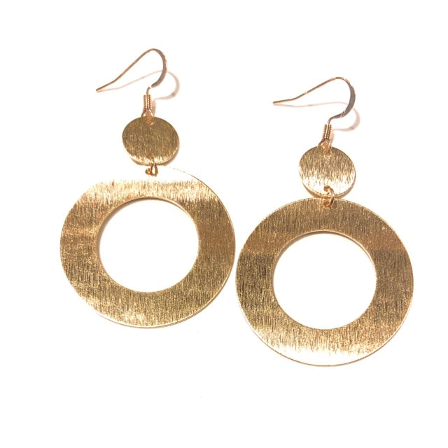 Gigi Gold Hoops - Nikki Smith Designs