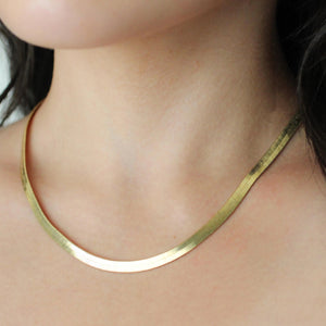 Gold Herringbone Necklace - Nikki Smith Designs