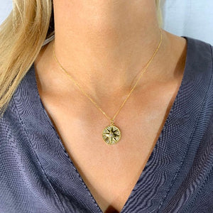 Golden, Compass Necklace - Nikki Smith Designs