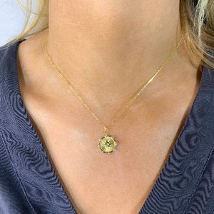 Golden, Halo Gem Necklace - Nikki Smith Designs