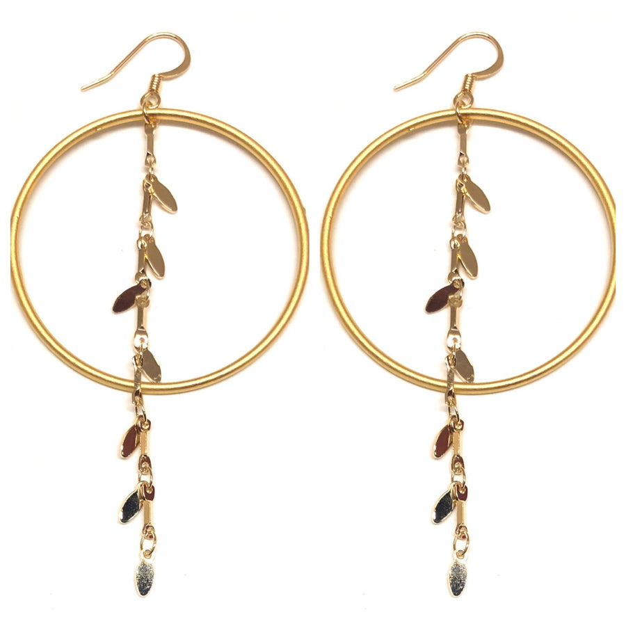 Hoop Earrings with Golden Drip - Nikki Smith Designs