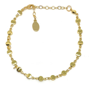 Gold Circle Disk Anklet