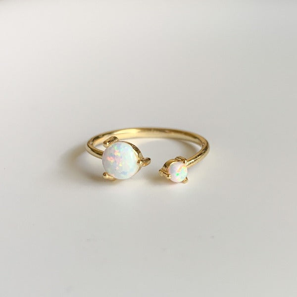 Twisted Golden Opal Ring - Nikki Smith Designs