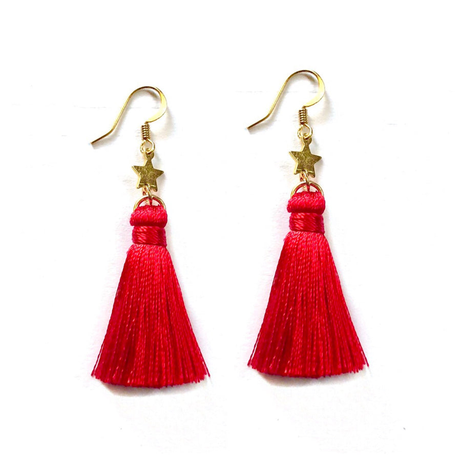 Red Star Charm Tassle