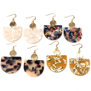 Blaire Half Moon Earrings - Nikki Smith Designs