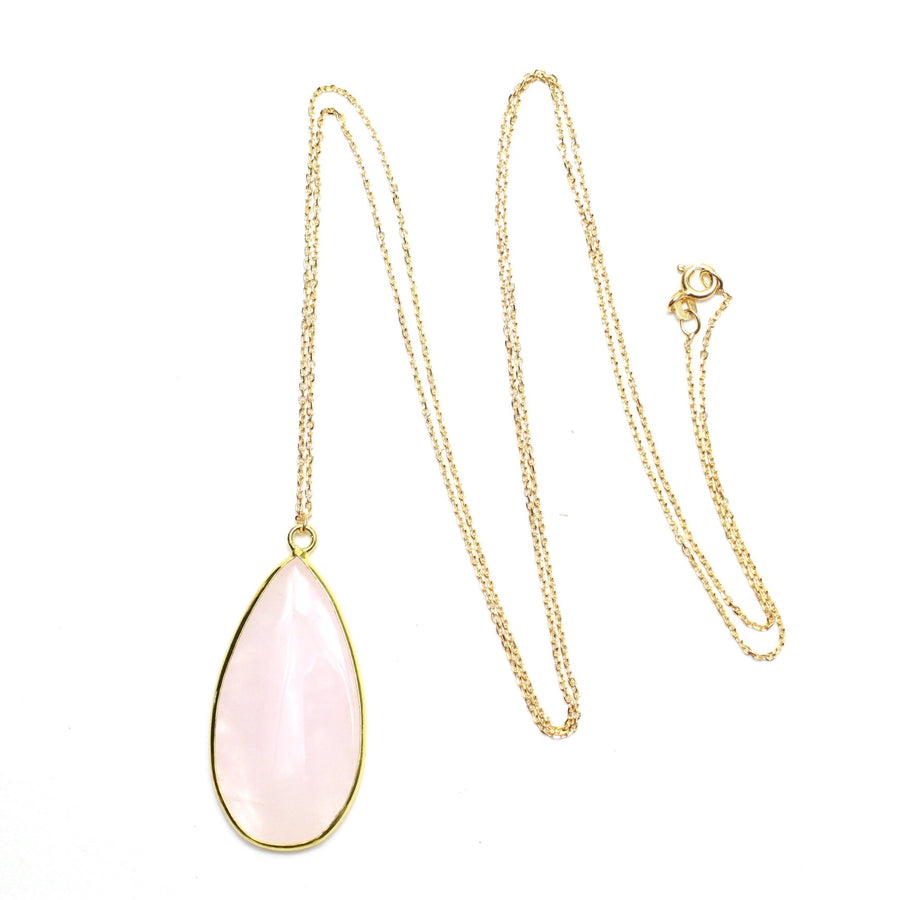 Blush Quartz Drop Necklace - Nikki Smith Designs