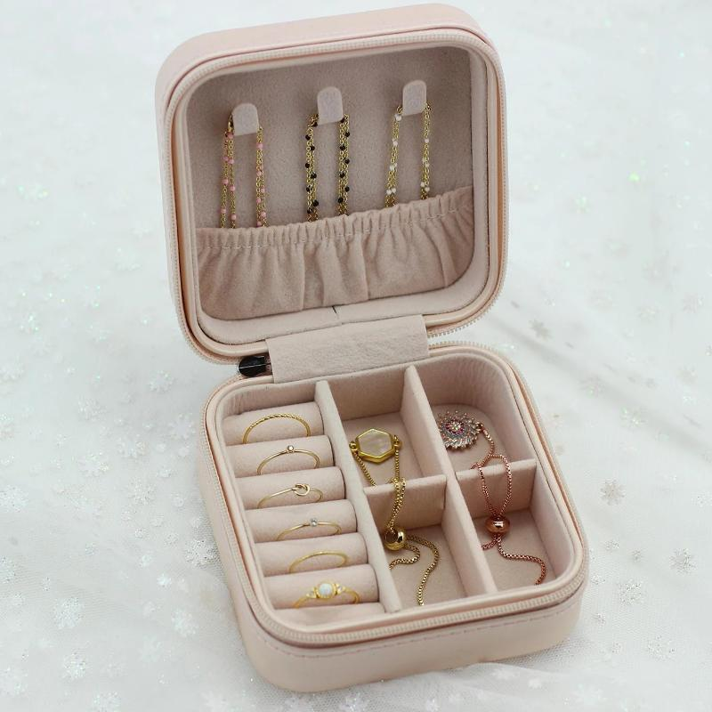 Small Travel Jewelry Case - Pink - Nikki Smith Designs