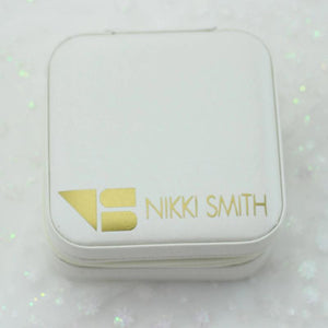 Small Travel Jewelry Case - White