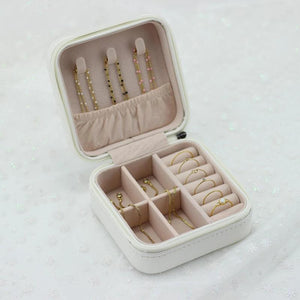 Small Travel Jewelry Case - White - Nikki Smith Designs