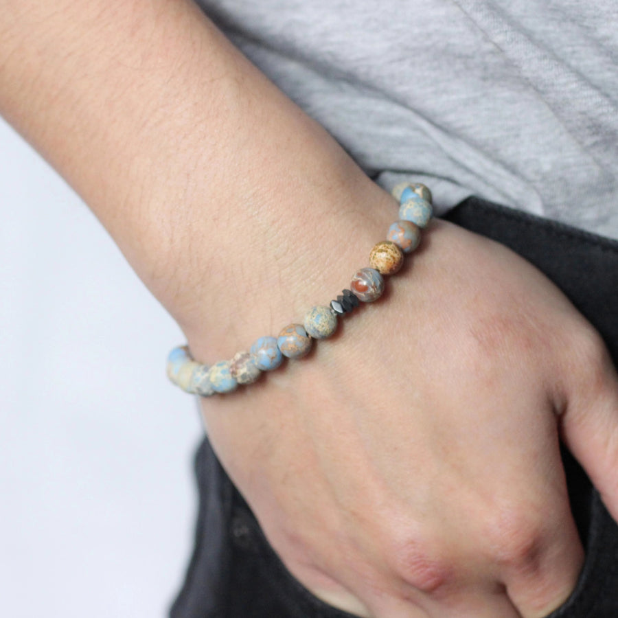 Men's Beaded Stone Bracelet-Roamer - Nikki Smith Designs