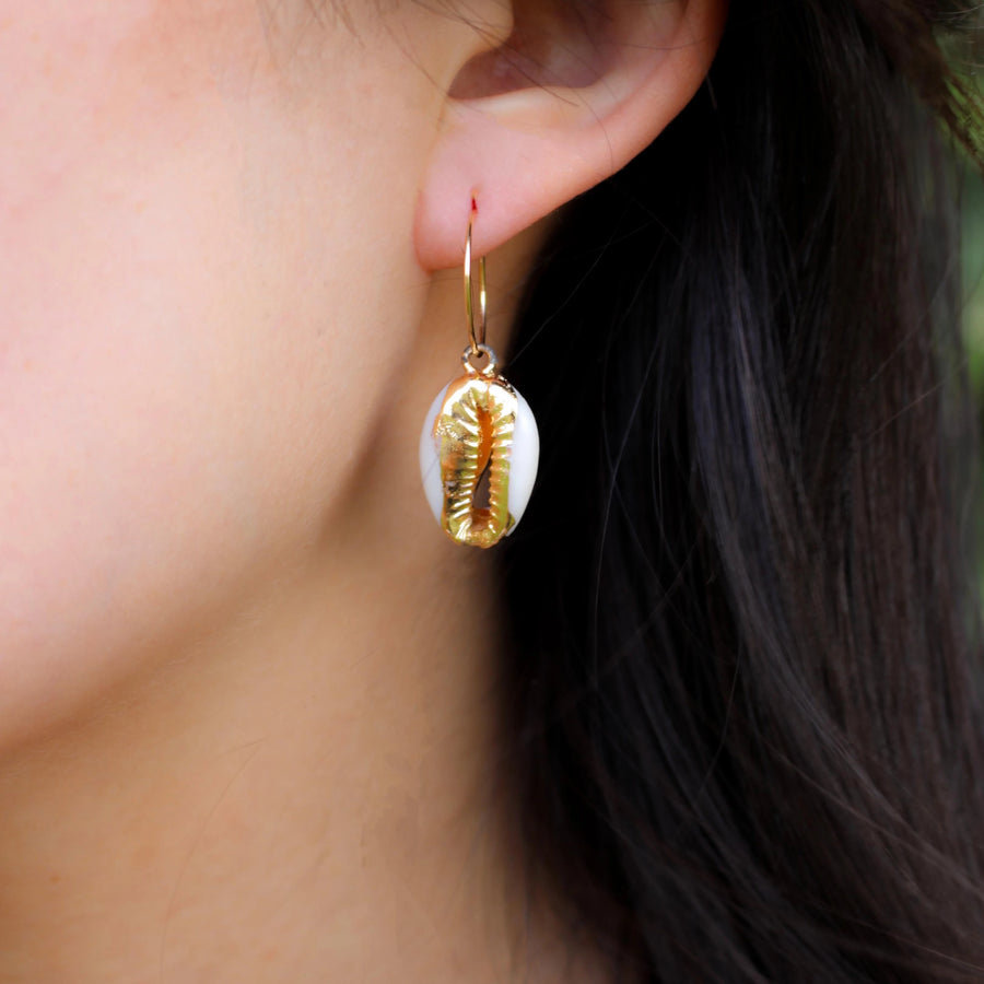 Mini Shell Hoops - Nikki Smith Designs