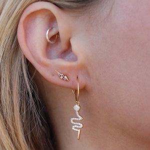 Mini Cobra Hoops - Nikki Smith Designs