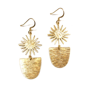 gold sunshine earrings