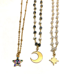 Charming Moon & Star Chokers - Nikki Smith Designs