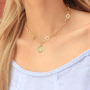 Evil Eye, Gold, Chain Choker - Nikki Smith Designs