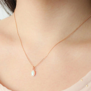 Opal Necklaces in rose gold - Nikki Smith Designs