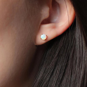 Opal Studs- Golden or Sterling - Nikki Smith Designs
