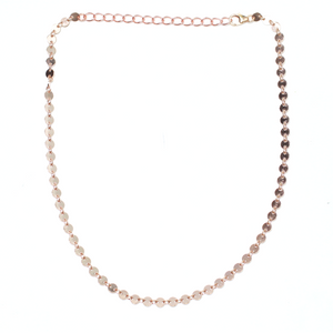 Coin Chain Choker- Rose Gold