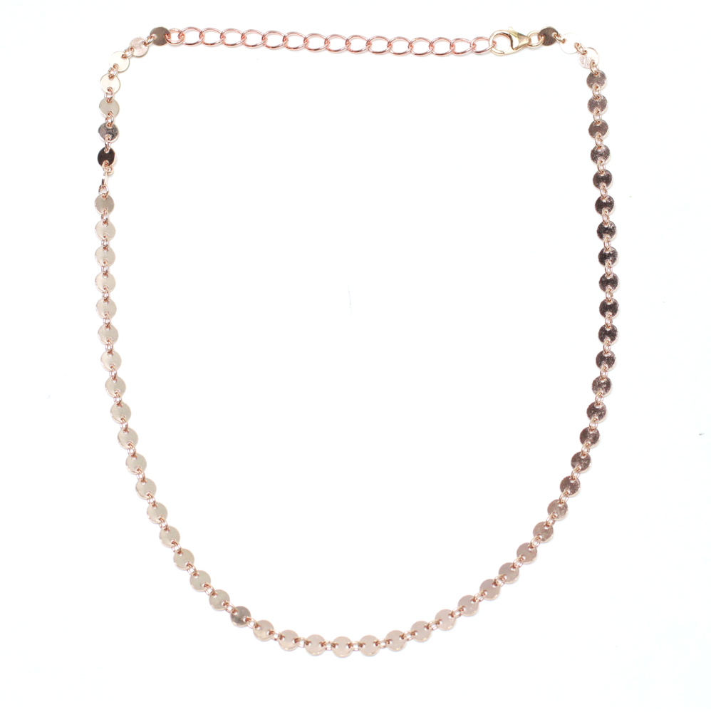 Coin Chain Choker Rose Gold - Nikki Smith Designs