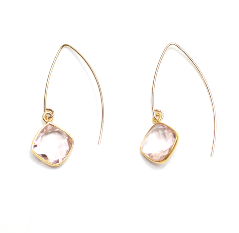 Blush 14K Gold Plated V's - Nikki Smith Designs