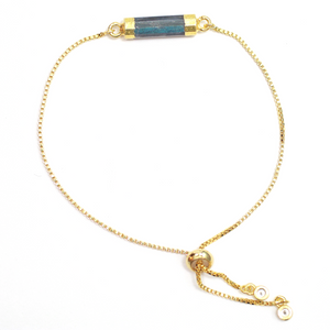 Labradorite Gold Slider Bracelet - Nikki Smith Designs
