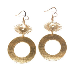 Poppy Circle Earrings - Nikki Smith Designs