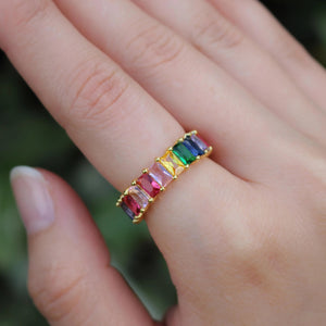 Rainbow Shimmer Ring - Nikki Smith Designs