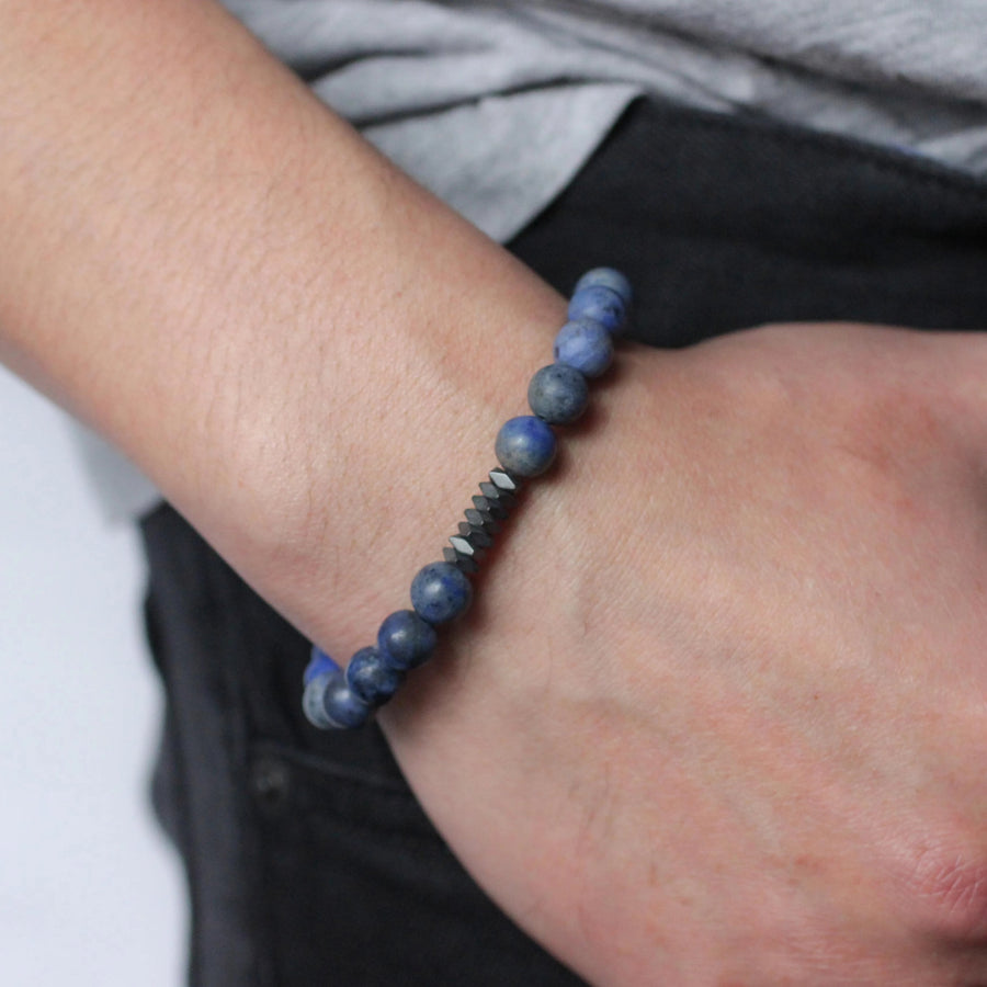 Rio Men's Beaded Stone Bracelet - Nikki Smith Designs