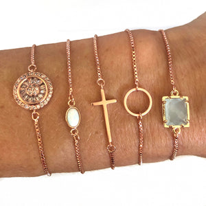 Robin Rose Gold Adjustable Bracelets - Nikki Smith Designs
