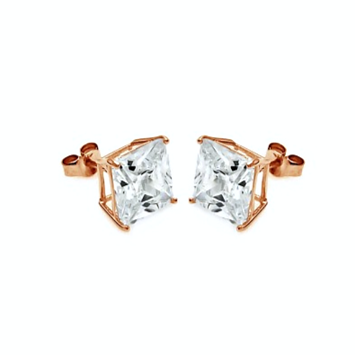 Rose Gold Cubic Studs