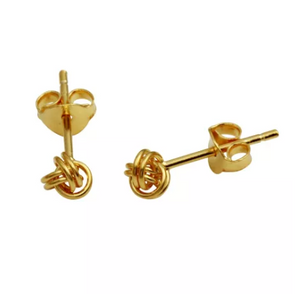 Gold Knot Studs - Nikki Smith Designs