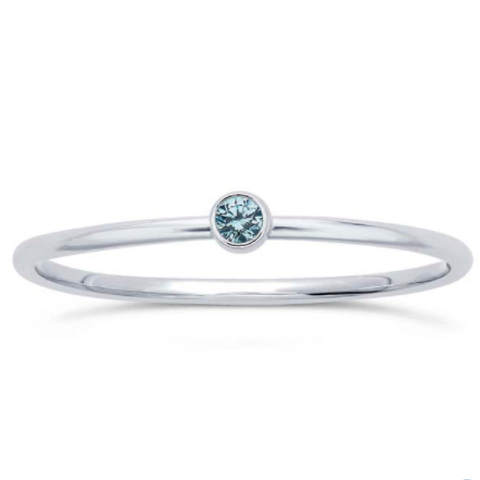 Blue Topez Gem Stackable Sterling Ring - Nikki Smith Designs