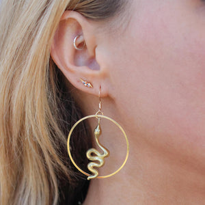 Matte Python Hoops - Nikki Smith Designs