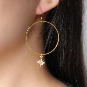Starburst Hoop Earrings - Nikki Smith Designs